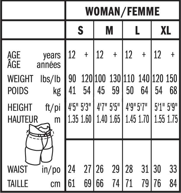 Bauer Womens Glove Sizing, Bauer Womens Ice Hockey Pant Size Chart
